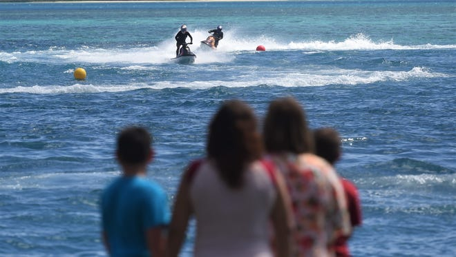 Water scooter races were held during the 9th annual Malesso Gupot Chamorro/Crab Festival on March 26, 2017.