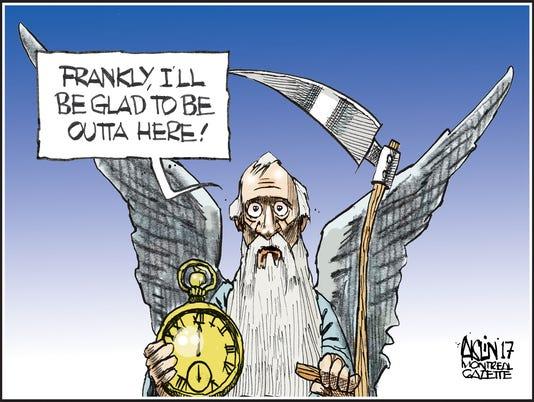 Cartoon for Hinson column
