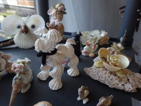 File: Items made by the Marco Island Shell Club.