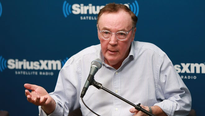 """Author James Patterson visits the SiriusXM studios for """"SiriusXM's Town Hall with James Patterson and special guest Grant Hill""""  at SiriusXM Studio on June 7, 2013 in New York City."""