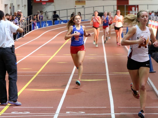 Pearl River junior Mary Borkoski wins the girls 3000m
