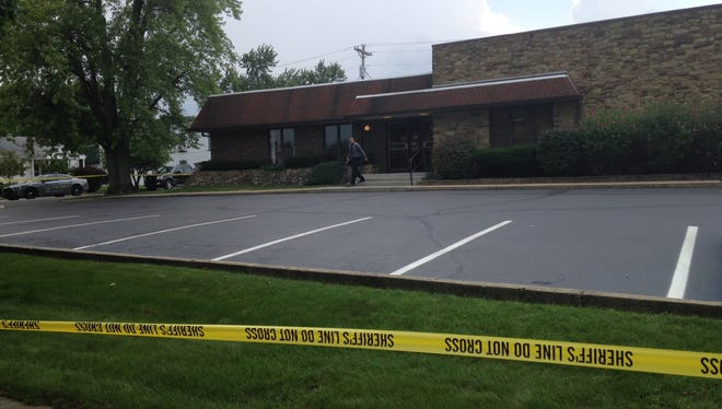Police have set a perimeter around the Hoosier Heartland State Bank in Linden following an armed robbery. Suspects are still at large.