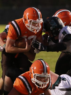 Heath senior quarterback Aaron Latiolais had more than 1,000 yards both rushing and passing to earn Division IV All-Ohio honors in 2015.