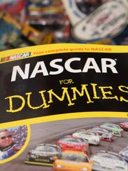 "A book titled ""NASCAR for Dummies,"" part of Donna Brunow's"