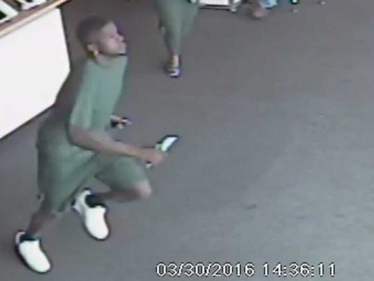 Millbrook cell phone theft suspect.