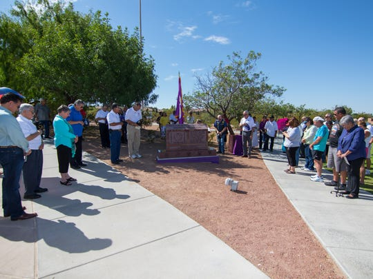 A dedication ceremony Sunday for the new Purple Heart