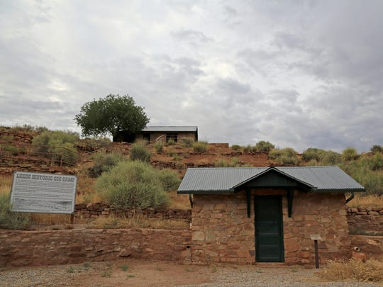 Rock from the Silver Reef ghost town was used to construct this well-preserved Civilian Conservation Corps camp in Leeds.
