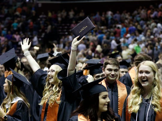 Unlike the Class of 2018 pictured here, Republic High School seniors will not have a traditional commencement ceremony until Aug. 1.