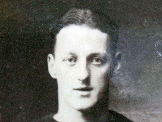 """Tucker """"""""Swede'' Hanson, who was a star athlete at Leonardo High School in the mid 1920s before starring at Temple and with the Philadelphia Eagles."""