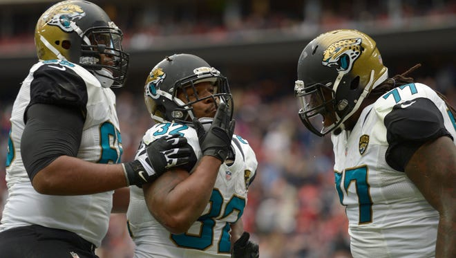 Jaguars RB Maurice Jones-Drew scored the lone TD in Sunday's game against the Texans.