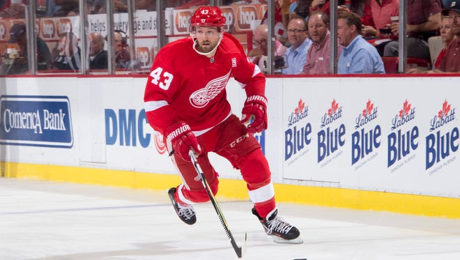 Red Wings center Darren Helm will be part of one of the team's two power-play units.