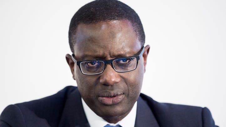 Tidjane Thiam, CEO of Swiss bank Credit Suisse, speaks