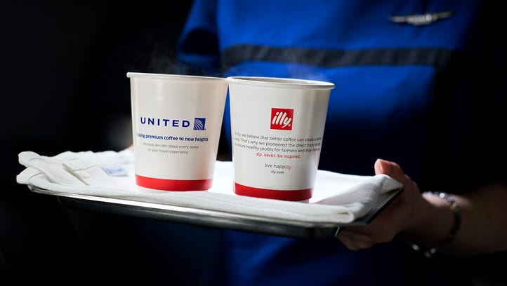 An image of the United and illy logos on United Airlines