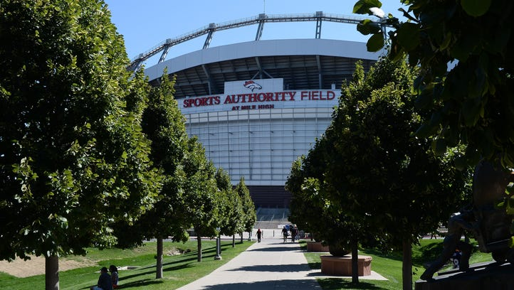 A view of Sports Authority Field in Denver.