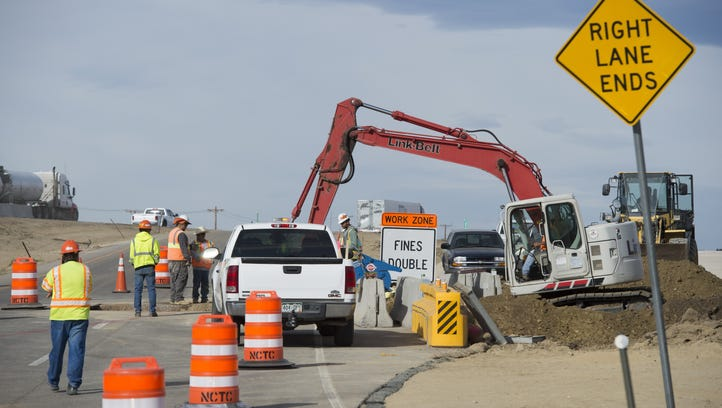 Ramps at Crossroads Boulevard and Interstate 25 could see periodic closures next week.