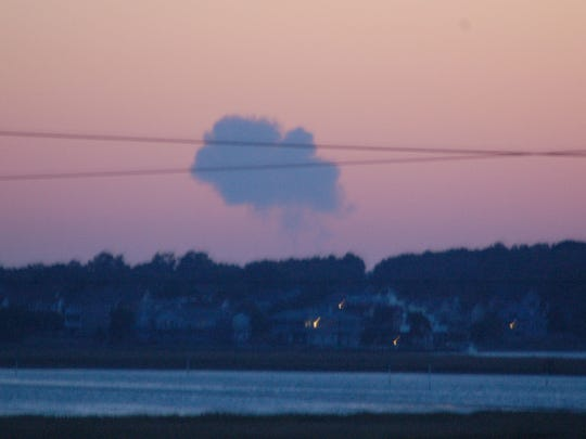 Smoke plume from Antares rocket explosion was visible from the Indian River Inlet Bridge in Delaware, 55 miles north of the Virginia launch site.