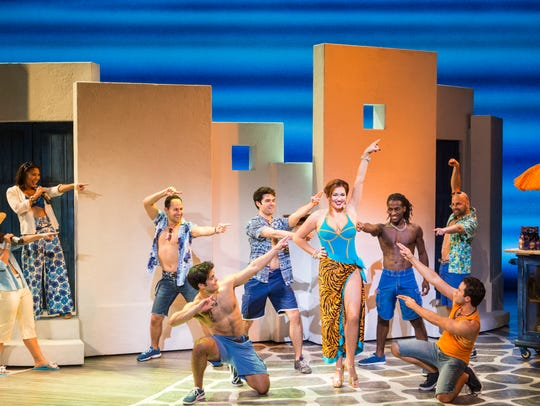 "The company of the ""Mamma Mia!"" Farewell Tour."