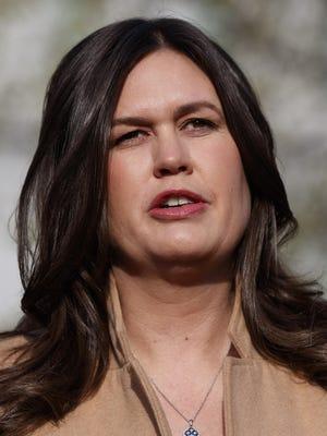 White House press secretary Sarah Sanders