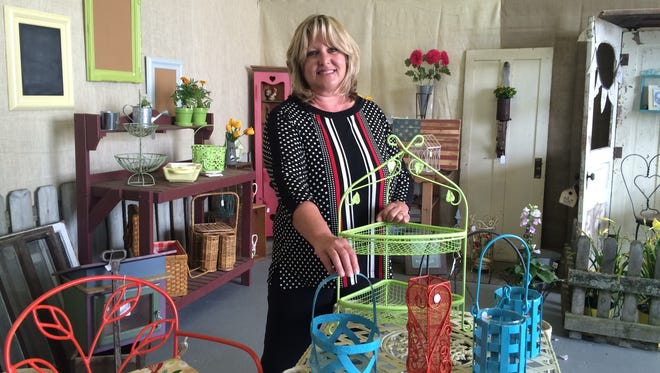 Sally Roberts opened her Walnut Street Marketplace in late June. The shop is open only on weekends.