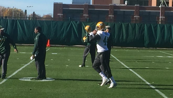 RB James Starks takes part in Packers practice.