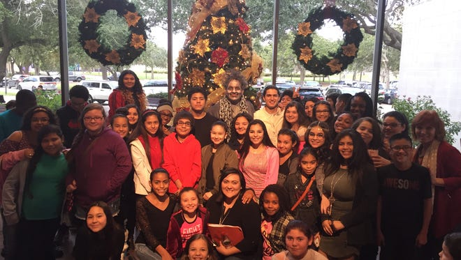 "Students from Driscoll Middle School recently attended a performance of ""A Christmas Carol"" at the Harbor Playhouse before their holiday break. Todd Jones, part-time assistant principal and art teacher at, had performed the role of Jacob Marley in the musical. Mark Saenz, who is a school tutor, also had a reoccurring role in this holiday production."