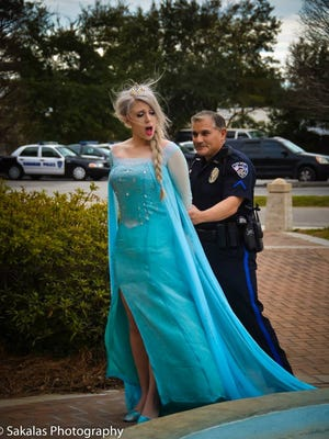 Hanahan, South Carolina police arrested Queen Elsa. There was an arrest warrant for her out of Kentucky.