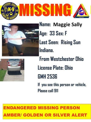 A West Chester Township woman has been missing in Indiana since Monday.