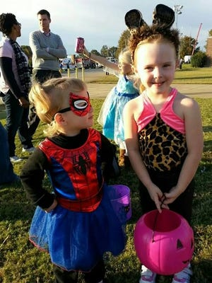 Children participate in the 2014 Trunk or Treat and Family Fun Event.