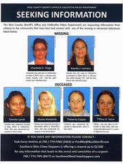 Officers with a missing women's task force in Chillicothe