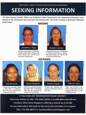 Officers with a missing women's task force in Chillicothe are still looking for information, although tips have slowed.