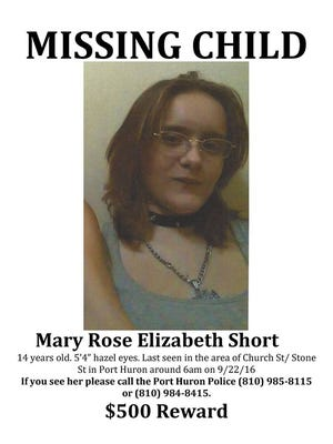 Port Huron Police are asking for help looking for Mary Rose Elizabeth Short.