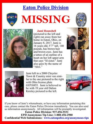 Eaton police officers are looking for a missing 16-year-old.