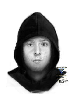 Authorities released this sketch of the suspect who robbed a Bordentown Township gas station.