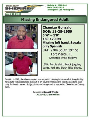 A man is missing in St. Lucie County.
