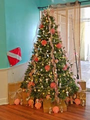 A tree designed and donated by employees of Deakins