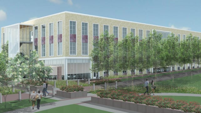 An architectural rendering for a proposed $25 million Sioux Falls city administration building.