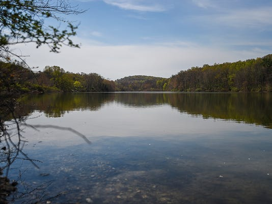 A scene here looks toward the southern tip of Lake Marburg that runs beside Blooming Grove Road in Manheim Township toward Long Run creek at Codorus State Park. The Department of Conservation and Natural Resources acquired 48 acres of property in the area known as the Rohrbaugh property that will be added to the park lands.