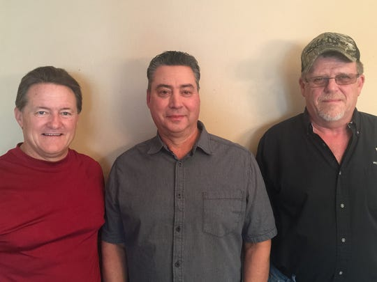 """Provided photo taken 1/5/17 by Jeff Joering  shows Greg Devlin, Rick Willinghust, and Pat Boylan, all north Brevard residents who were there in Arkansas in 1980 when a Titan II missile exploded. The incident is the subject of a book """"Command and Control"""" , documentary airing on PBS."""