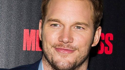 """In this file photo, actor Chris Pratt attends a screening of """"Guardians of the Galaxy"""" hosted by The Cinema Society and Men's Fitness in New York. Pratt was named Wednesday as Man of the Year by Harvard University's Hasty Pudding Theatricals."""