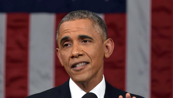 President Obama delivers his State of the Union address on Jan. 20.