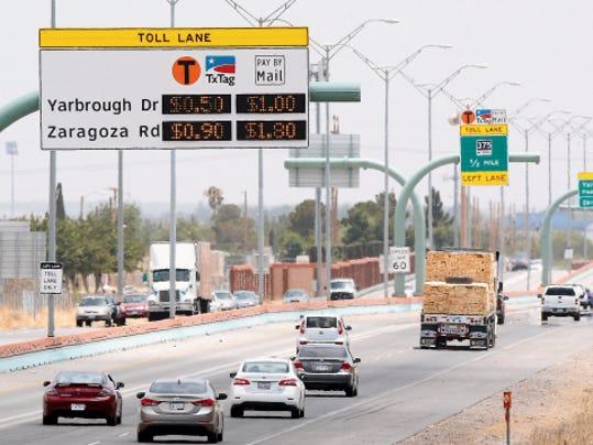 César Chávez express toll lanes.