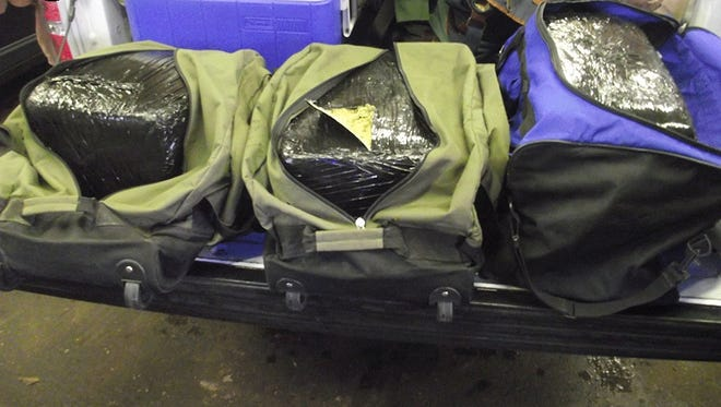 About 60 pounds of marijuana were discovered this week during a traffic stop in Preble County.