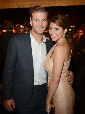 Jamie-Lynn Sigler and fiance Cutter Dykstra on Oct. 17, 2012 in Los Angeles.
