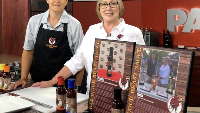 Tara Runkles, left, and Ann Raresheid, owners of Bar-B-Que Beast LLC are pictured here. PROVIDED PHOTO