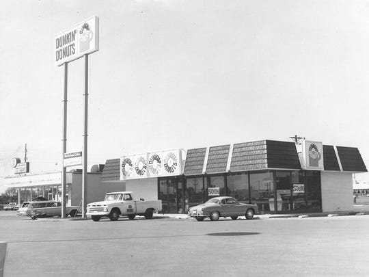 Dunkin' Donuts was about to open on North 1st Street this August 1971 photo. The shop looks much the same today, though the building area later expanded.