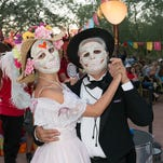 During Dia de Los Muertos celebrations, participants pay homage loved ones who have died and indigenous cultures.