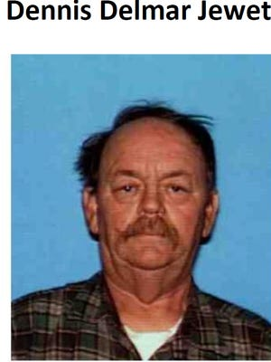 Dennis Delmar Jewett had been missing since last week, the Siskiyou County Sheriff's Office said.