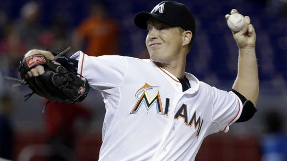 Roberson alum Chris Narveson is scheduled to be the starting pitcher for the Miami Marlins on Monday night in Atlanta.