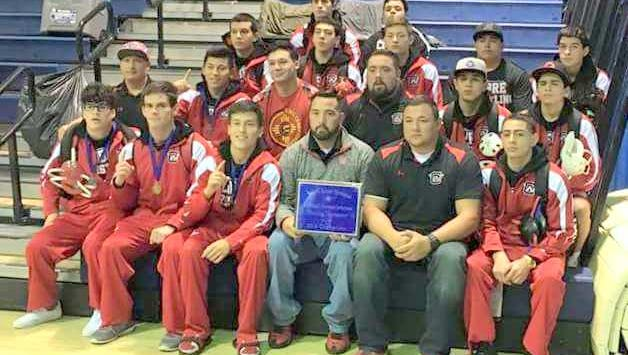 The Cobre High wrestling team captured the Al Salazar Wresting Invitational title in Santa Fe. They outscored Santa Fe High, 263.5 to 148.