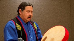 Andrew Gokee provides a Native American opening on